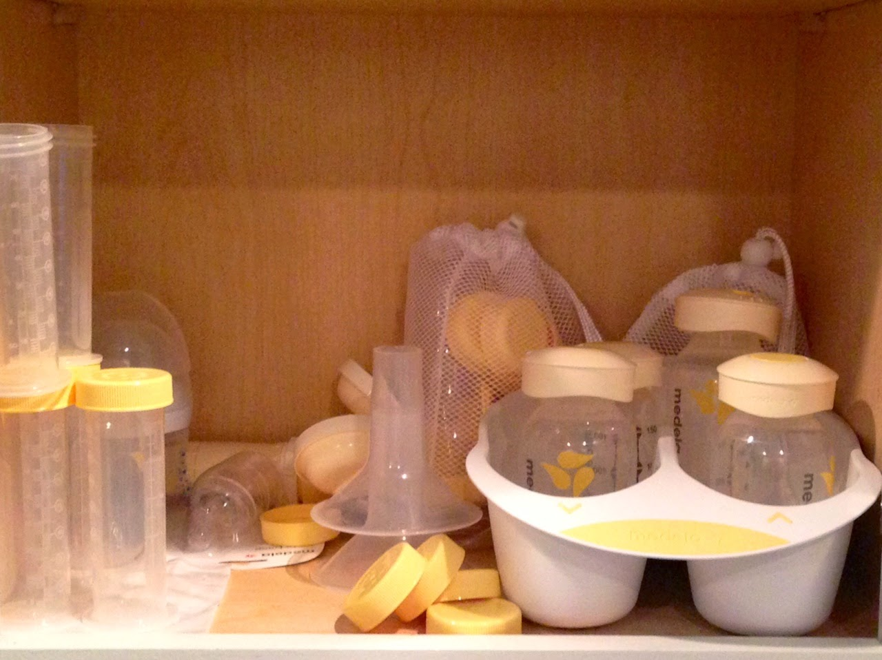 Why #breastfeeding is hard: so many pump parts to store!