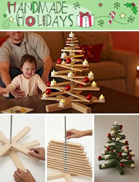 Adornos navidenos hechos con madera