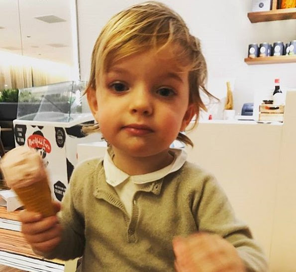 Princess Madeleine shared a new photo of her son Prince Nicolas on her own Facebook account, with the title of 'Happy Saturday from Nicolas'