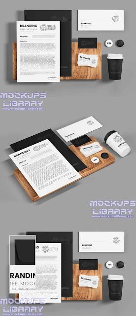stationery mockup free