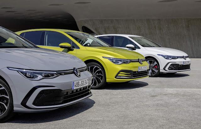 Volkswagen Golf eTSI, eHybrid e GTE - fotos e detalhes