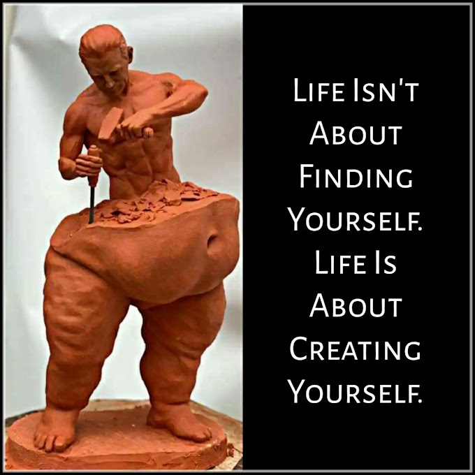 Life's Ups and Downs Inspirational Lesson | Life Isn't About Finding Yourself. Life Is About Creating Yourself.