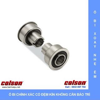 Bánh xe cao su có khóa cọc vít chịu tải 100kg | STO-5854-448BRK4 sử dụng ổ bi