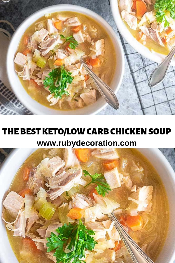 THE BEST KETO/LOW CARB CHICKEN SOUP