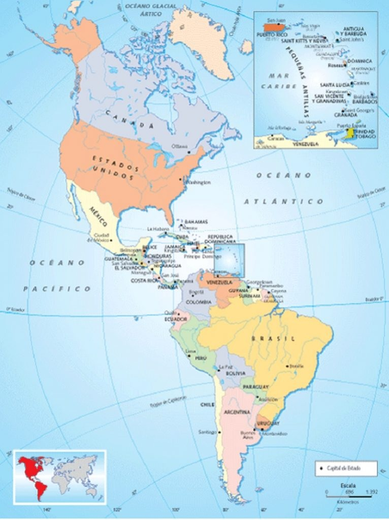 Letak Benua Amerika : letak, benua, amerika, Iklim, Benua, Amerika, Berdasarkan, Letak, Astronomis, Lengkap