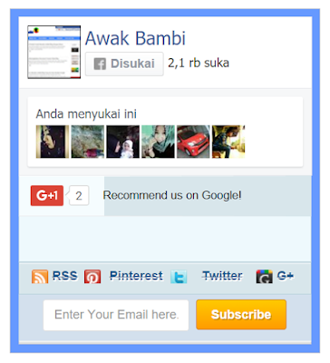 Cara Membuat Widget Twitter Fan/Follower dan subcribe Box pada Blog
