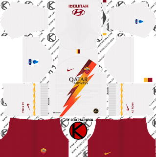 AS Roma 2019/2020 Kit - Dream League Soccer Kits - Kuchalana