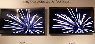 επίδειξη των OLED τηλεοράσεων που σκοπεύει η Philips να λανσάρει αργότερα αυτό το χρόνο.