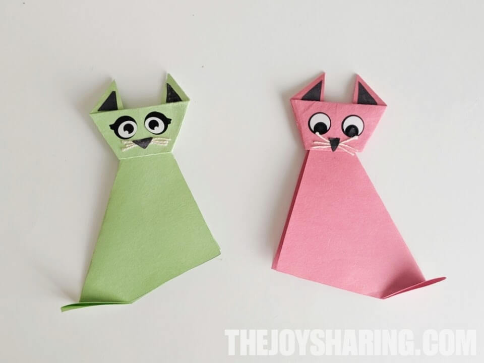How to make a Paper Cat: Easy Origami Cat Instructions for Kids | 720x960