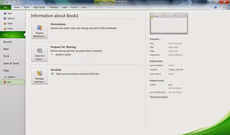 Elemen Pada Microsoft Excel