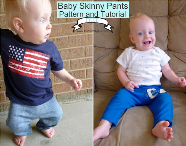 FREE PATTERN: Upcycled Baby Skinny Pants
