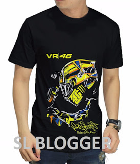 Kaos Valentino Rossi VR-46 Moto GP Official 2018 Model 3