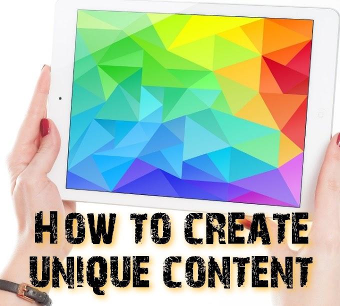How to create unique content