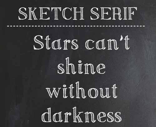 chalk-sketch-serif-font