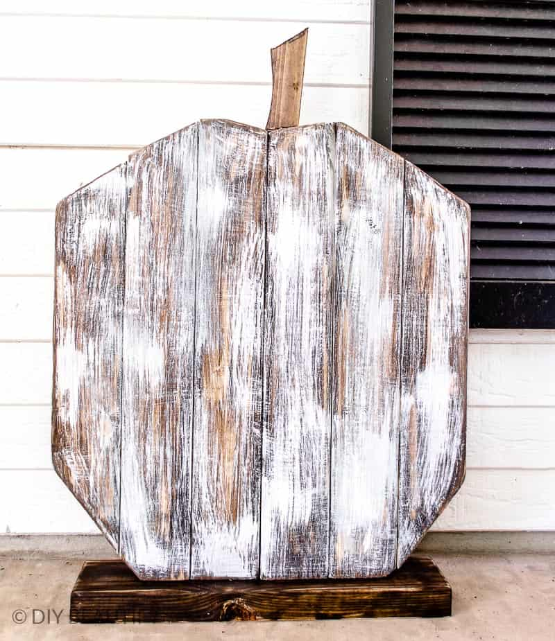 2x4 large wood pumpkin