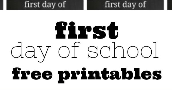 She's crafty: First Day of School Printable