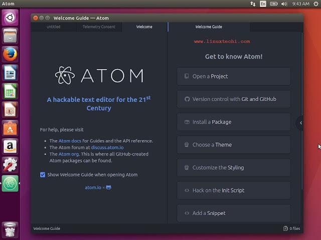 Atom è un editor di testo open source in continua crescita, stabile e sempre aggiornato.