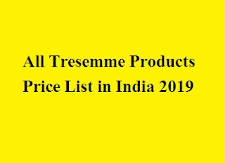 Tresemme Products Price List