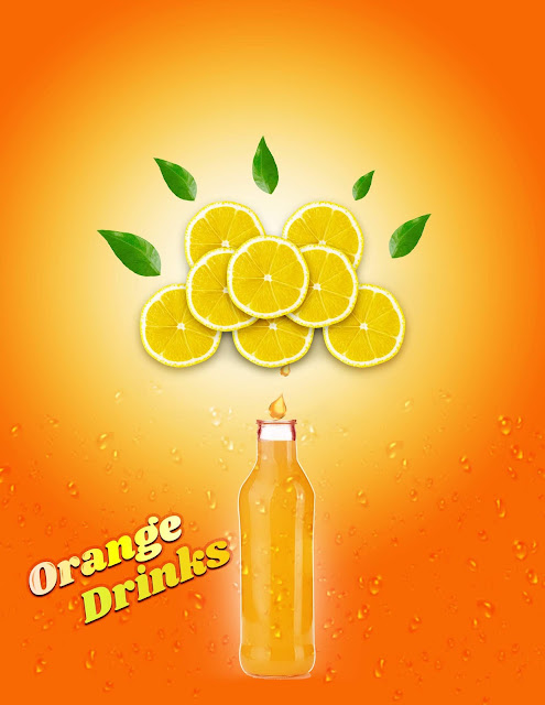 Orange Drink Poster Design