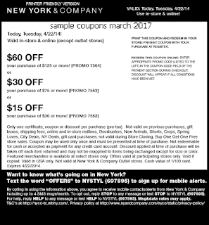 New York And Company coupons march