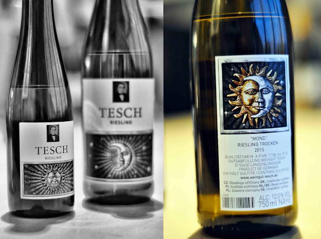 Riesling Sonne und Riesling Mond vom Weingut Tesch