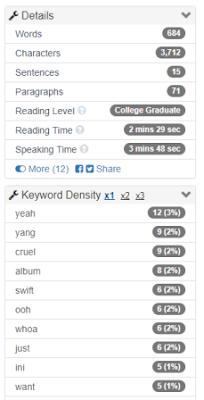 Cara gratis menghitung kata di WordCounter