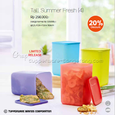 Tall Summer Fresh Promo Tupperware April 2016
