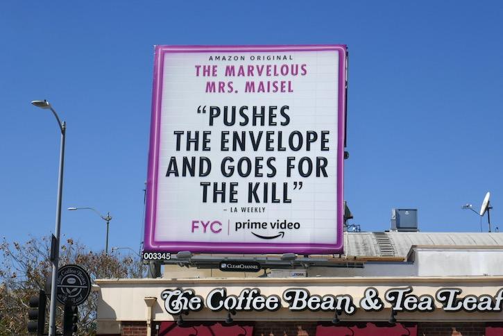 Marvelous Mrs Maisel s3 Emmy FYC billboard