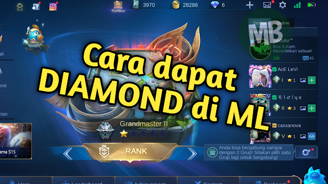 Cara Mendapatkan Diamond di Game Mobile Legend - Masbasyir