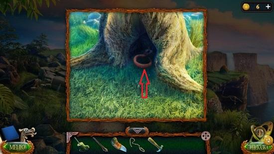 достаем крюк в дереве в игре затерянные земли 4 скиталец