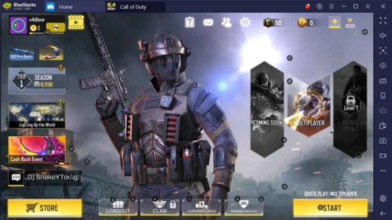 Call of Duty: Mobile on BlueStacks emulator