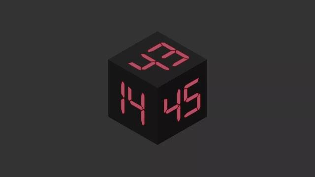3D Cube Working Digital Clock