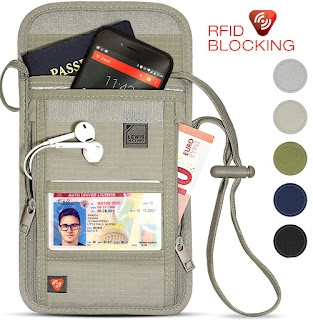 Lewis N. Clark RFID Blocking Stash Neck Wallet