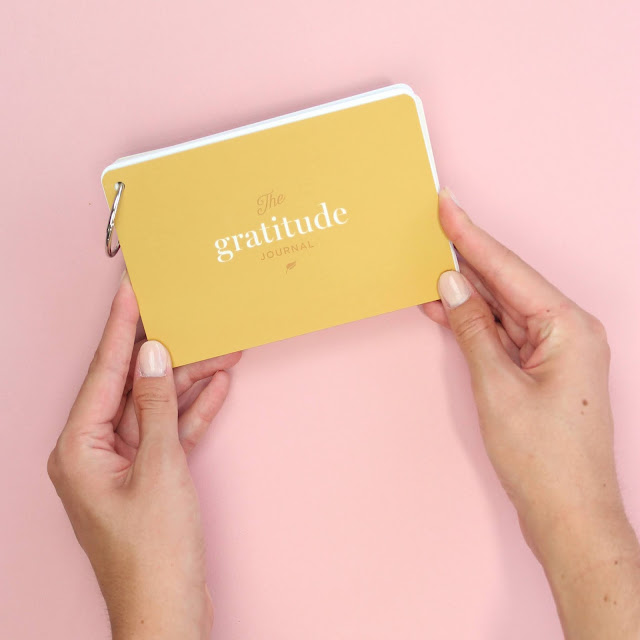 Yellow gratitude journal from Adorned Abode
