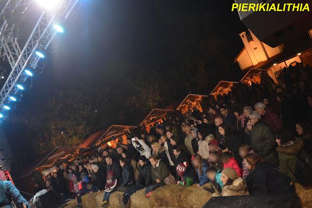 Φωτορεπορτάζ από το χθεσινό βράδυ (26/12) στο Χριστουγεννιάτικο χωριό της Κατερίνης