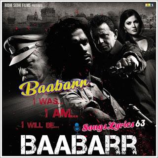 Baabarr Song Lyrics Baabarr [2009]