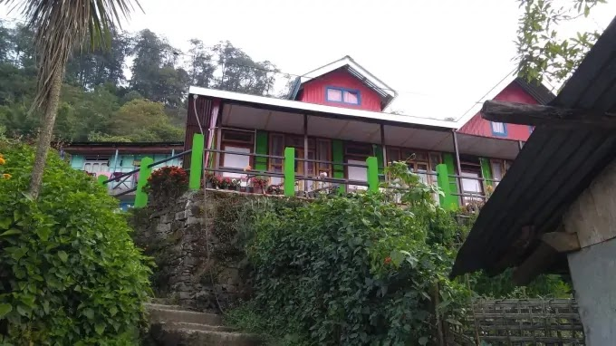 Steps toward Khawas Home Stay