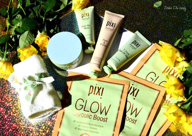 Pixi Skintreats - Peel & Polish, Glow Mud Mask oraz T-Zone Pell Off Mask recenzja