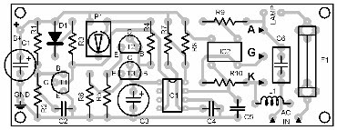 Parts Placement Layout Automatic Lamp Regulator
