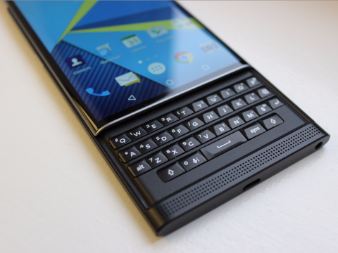 Blackberry Android based Phone PRIV with QWERTY keyboard