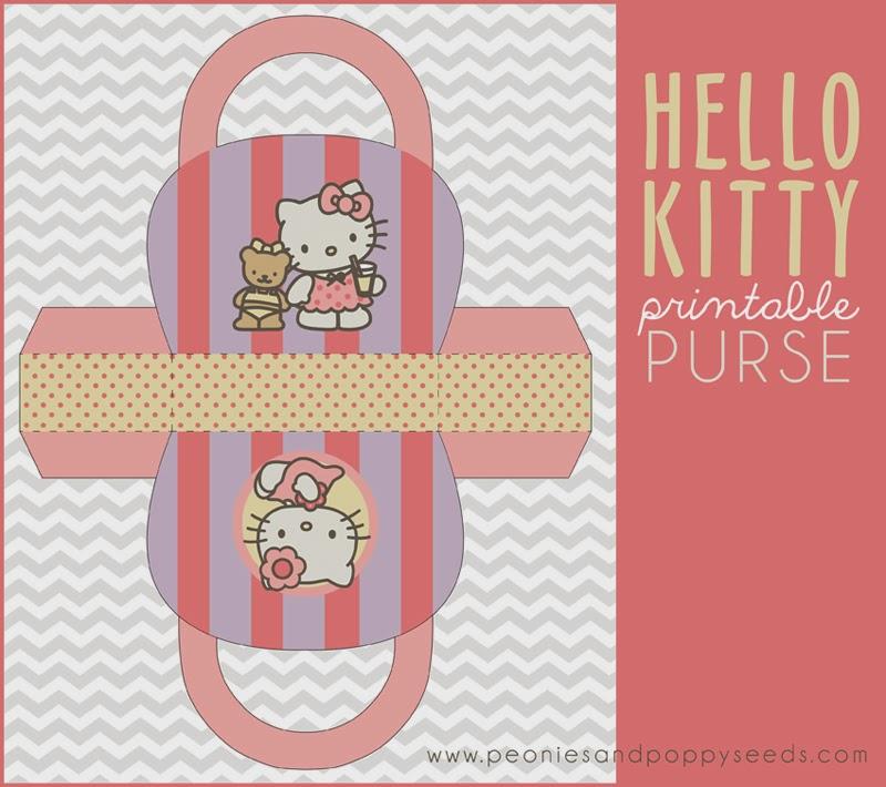 Hello Kitty: Bolso para Imprimir Gratis.