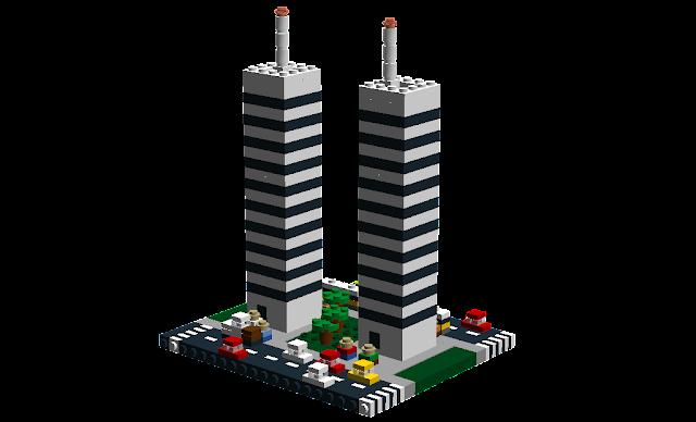 MOC LEGO quarteirão de uma cidade. Talvez Lisboa?