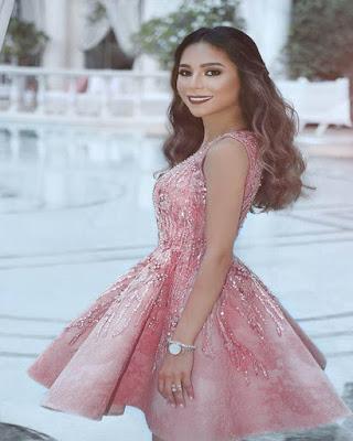 vestido rosa corto cóctel de moda tumblr elegante
