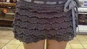 Minifalda al crochet