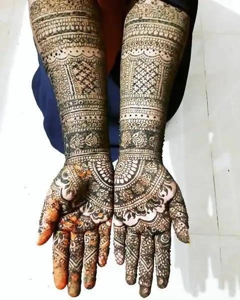 popular-gujraati-full-hand-mehndi-design