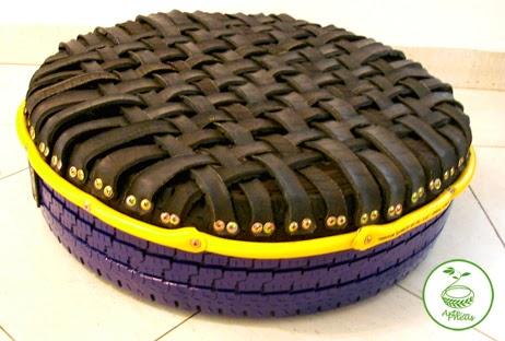 arte com pneu