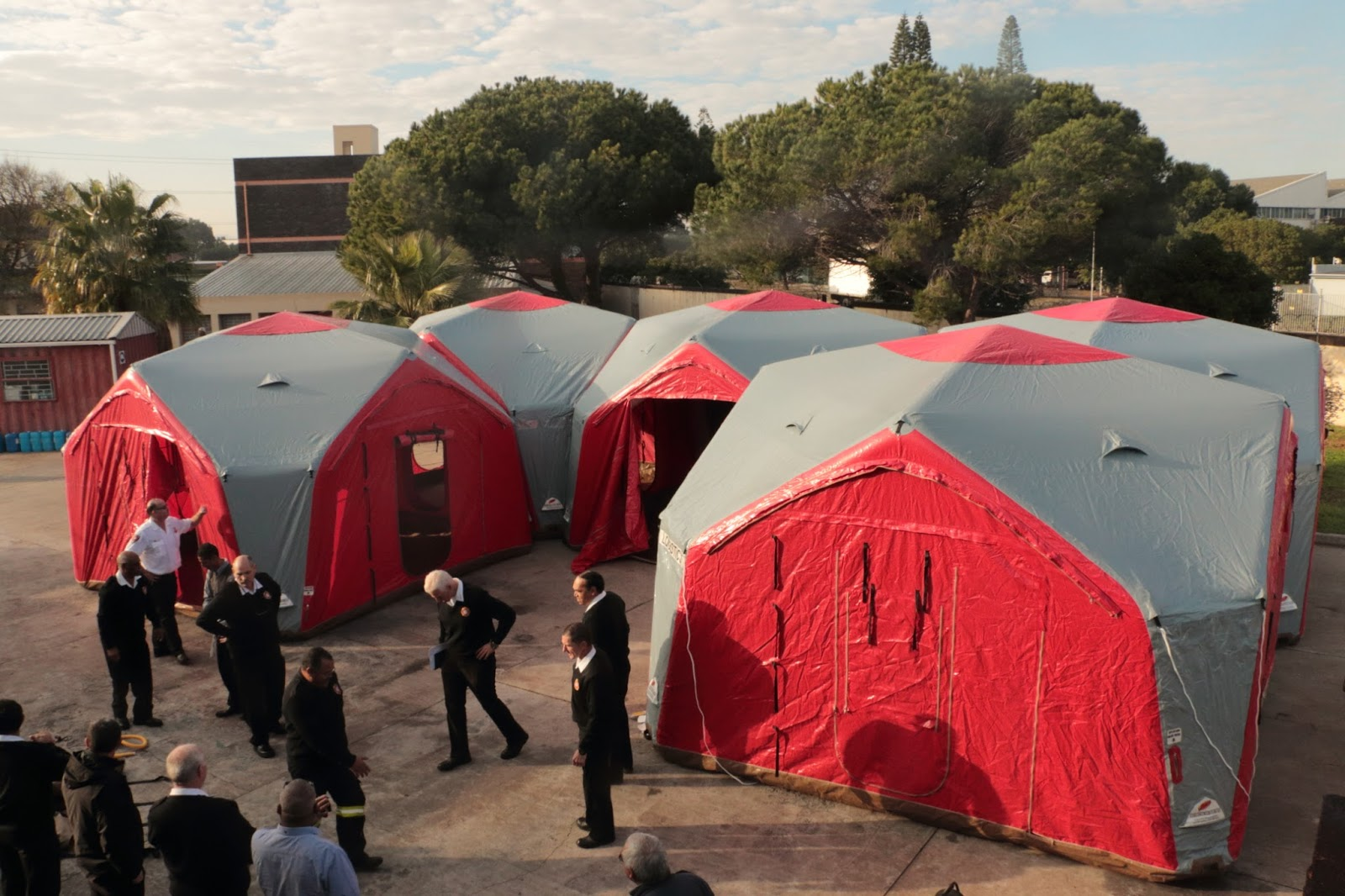 Command Inflatable Tents : Ark inflatables inflatable command centre deployed in