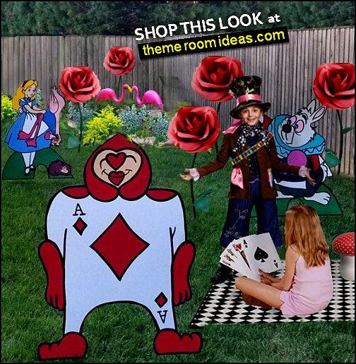 Alice in Wonderland Party Props Alice in Wonderland. garden party Alice in Wonderland. tea party