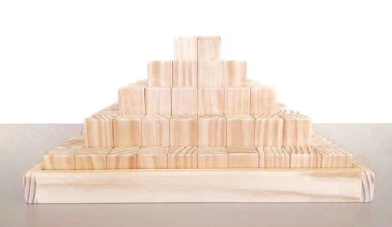 jimmy loves blocks raw wooden stepped pyramid
