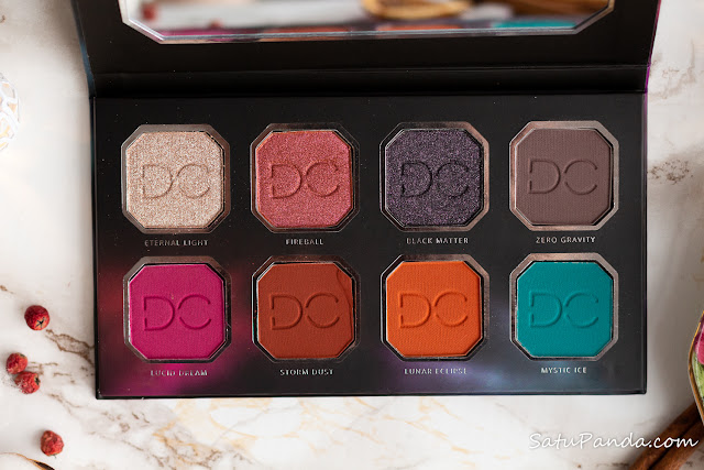 DOMINQUE COSMETICS  CELESTIAL THUNDER Eye Shadow Palette свотчи